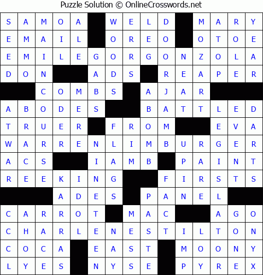 picture relating to Onlinecrosswords Net Printable Daily titled No cost Each day Printable Crossword Puzzles