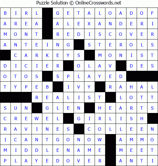 picture regarding Free Printable Fill in Puzzles Online referred to as Free of charge Day-to-day Printable Crossword Puzzles